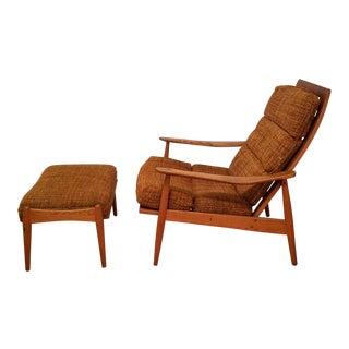Maple Heywood Wakefield Lounge Chair & Ottoman