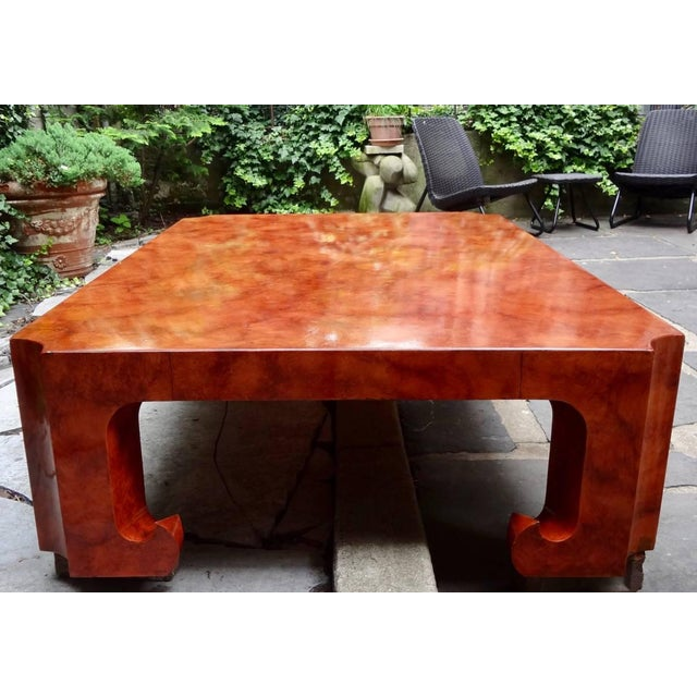 1970s 1970s Hollywood Regency Baker Collector's Edition Cinnabar Lacquer Coffee Table For Sale - Image 5 of 7