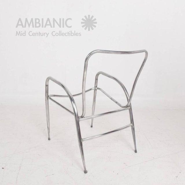 Brown Jordan Pair of Sculptural Brown Jordan Aluminum Patio Chairs After Walter Lamb For Sale - Image 4 of 10