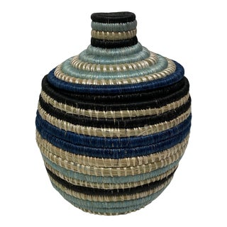 African Style Woven Jar For Sale
