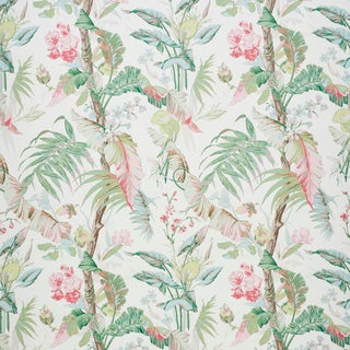 Schumacher Tropique Wallpaper in Blush , Sample For Sale