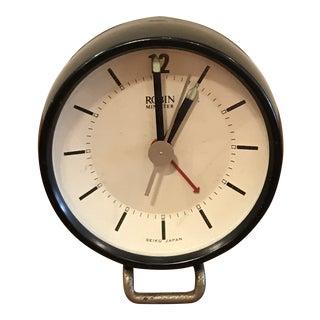 1960s Modernist Seiko Alarm Clock Japanese Modern For Sale