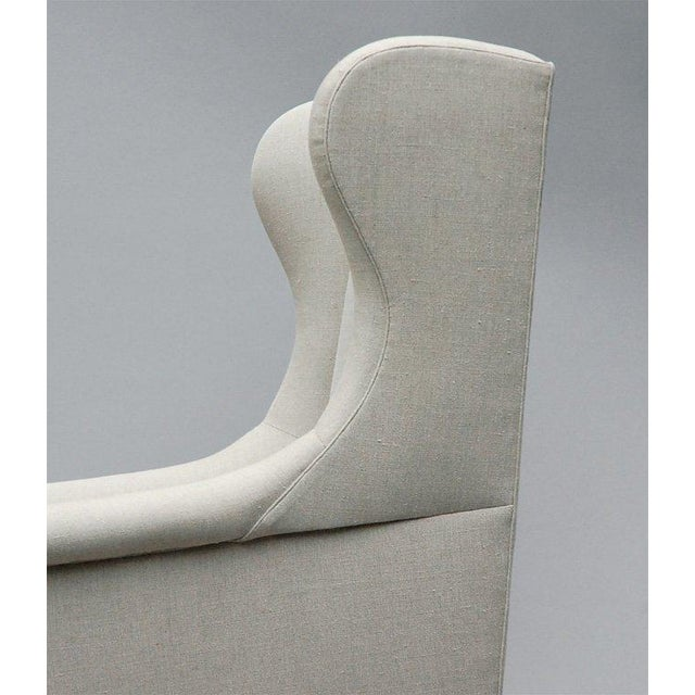 """Textile """"Somerton"""" by Lee Stanton Armchair Upholstered in Belgian Linen or Custom Fabric For Sale - Image 7 of 9"""