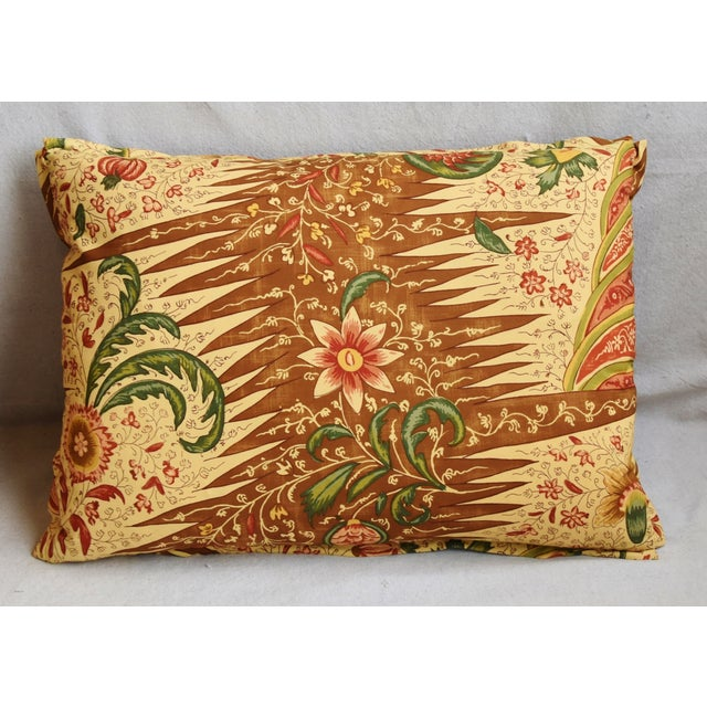 "Custom-tailored pillow in French Pierre Frey cotton fabric called ""La Riviere Enchatee"" from their Mademoiselle Celestine..."