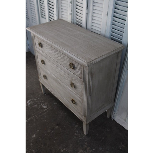 Mid 20th Century 20th Century Vintage Swedish Gustavian Style Nightstands - A Pair For Sale - Image 5 of 13