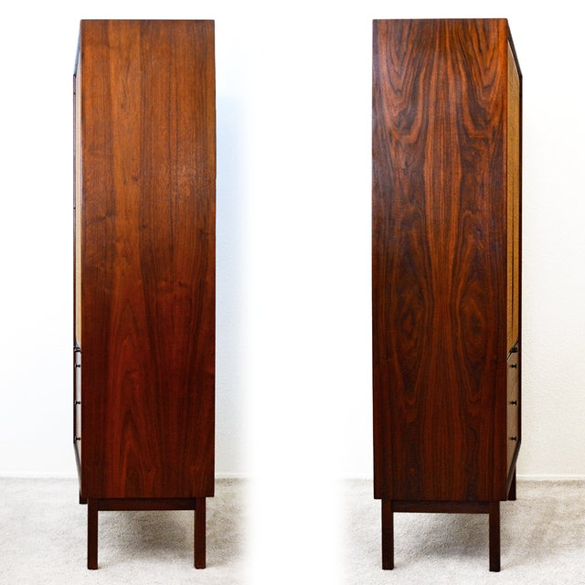 Brown Mid Century Jack Cartwright for Founder's Furniture Walnut Armoire For Sale - Image 8 of 13
