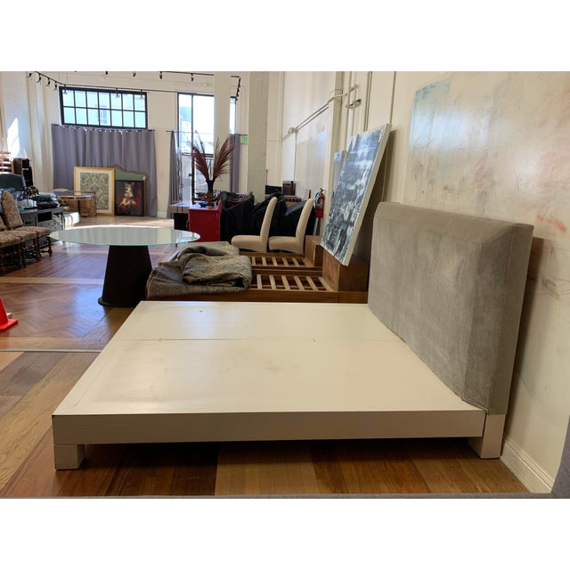 Eastern King Donghia Ginger Fabric Upholstered Platform Bed For Sale In San Francisco - Image 6 of 11