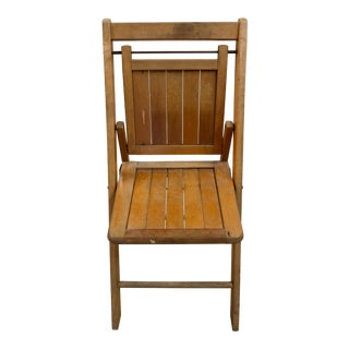 1950s Rustic Folding Wood Patio Chair
