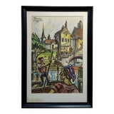 Image of Frank Howard Bowers -The Old Marina -Painting 1954 For Sale