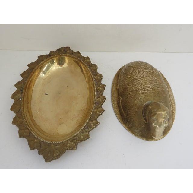 Mid-Century Brass Ram Vessel - Image 4 of 7