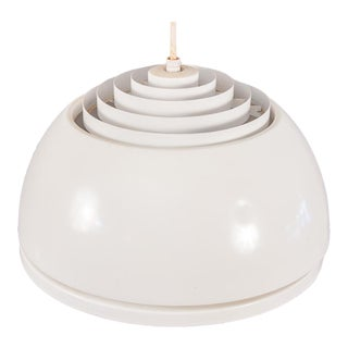 Louvered Lightolier Dome Pendant Light For Sale