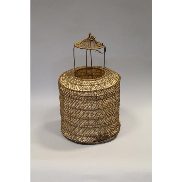 Woven Chinese Lantern With Rice Paper Interior - Image 5 of 6