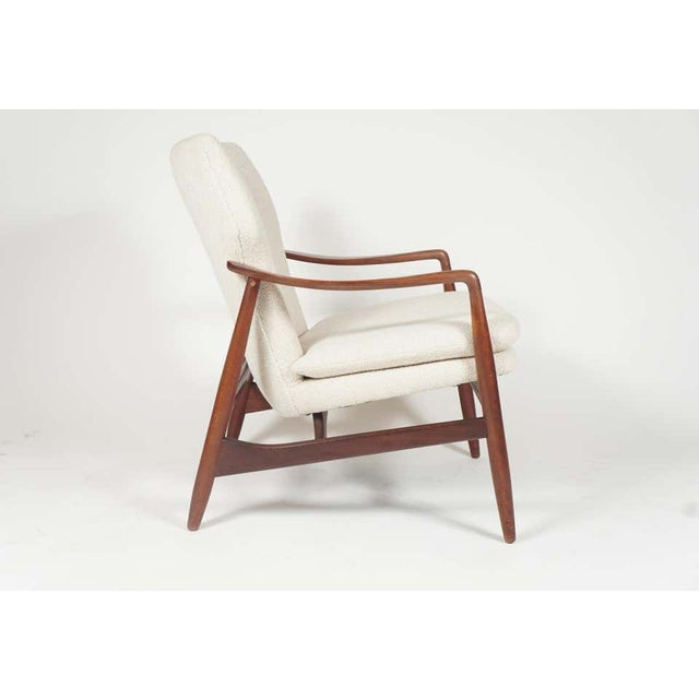 Danish Modern Sculptural Ib Kofod Larsen Midcentury Teak Frame Lounge Armchair From Denmark For Sale - Image 3 of 8