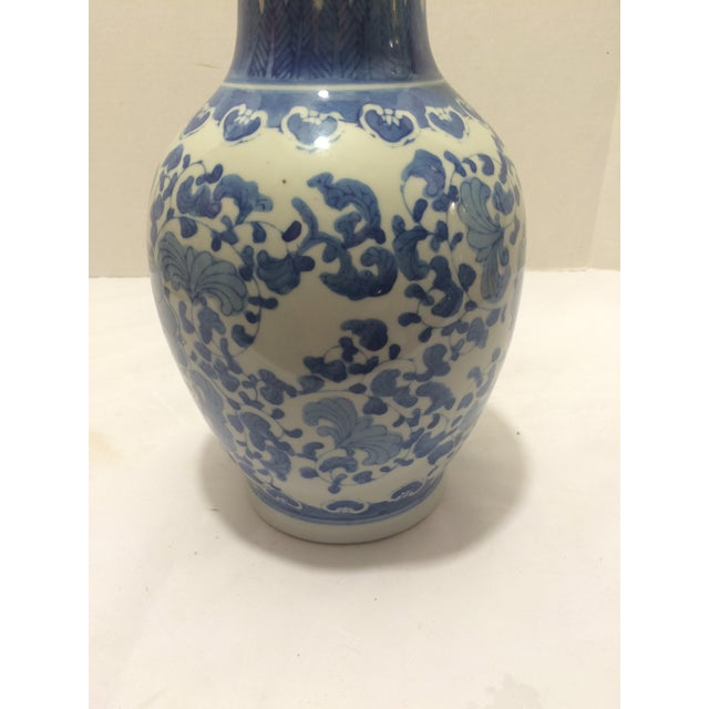 Chinosorie Vase with Delft Blue and Floral Motifs - Image 5 of 6