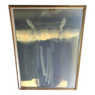 Figurative Pastel Large Framed Mountain Mistress Painting For Sale