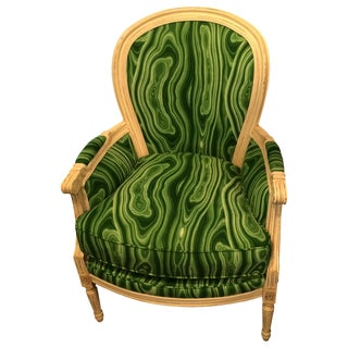 Wesley Hall Green Malachite Chair
