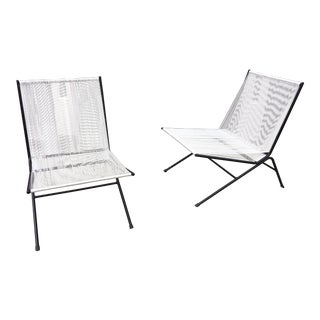 Allan Gould Pair of Bow String Chairs For Sale