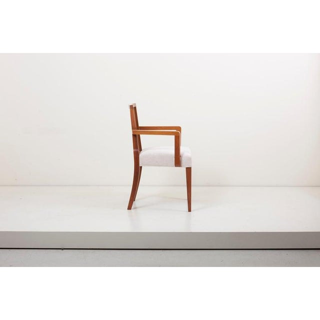 Mid-Century Modern Newly Restored Set of 8 Lattice Back Dining Chairs Attributed to Paul T. Frankl For Sale - Image 3 of 13