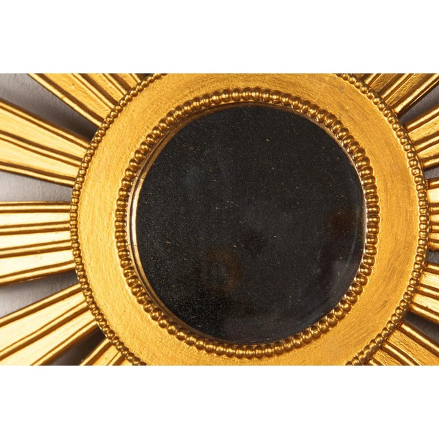 French Vintage Giltwood Sunburst Mirror, 1950s For Sale In Austin - Image 6 of 8