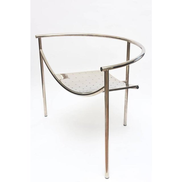 Silver Vintage Mid Century Philippe Starck Doctor Sonderbar Chrome Chair For Sale - Image 8 of 10