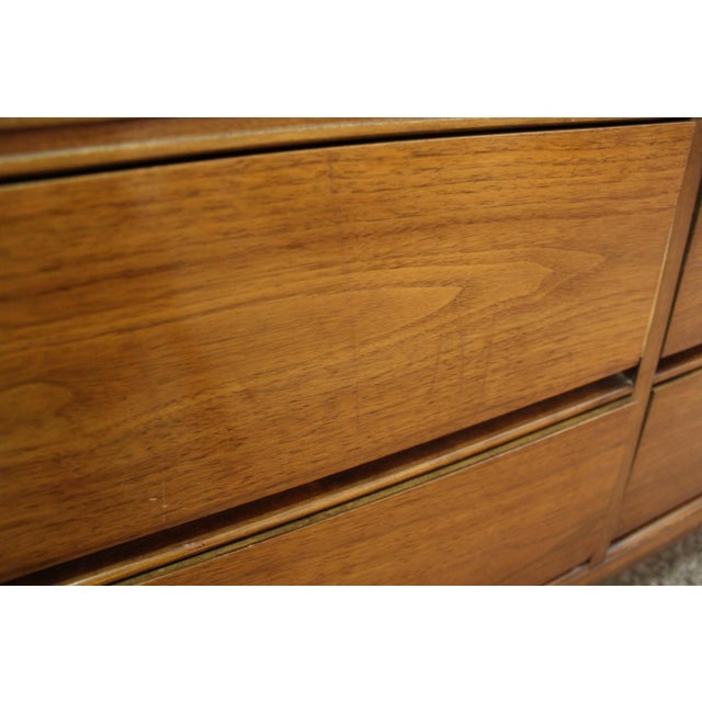 Metal Mid-Century Danish Modern Walnut Credenza For Sale - Image 7 of 11