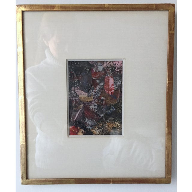 1970s Vintage Framed Abstract Painting-Shirley Black | Chairish