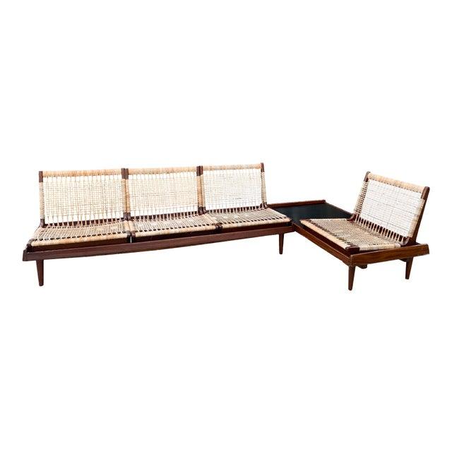 Hans Olsen for Bramin Mid-Century Modern Scandinavian Modular Bench Sofa and Loveseat-A Pair For Sale - Image 13 of 13