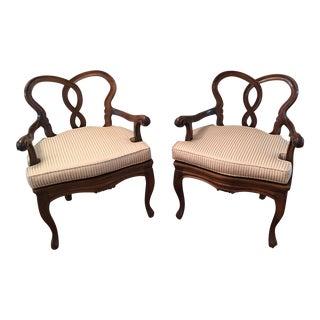 Italian Rococo Armchairs - A Pair
