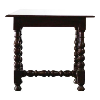 18th Century French Turned Leg Table