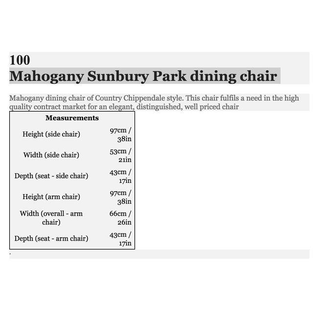 Arthur Brett Mahogany Sunbury Park Dining Chairs - Set of 10 - Image 6 of 10