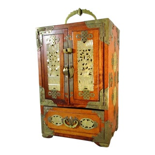 1970s Vintage Chinese Jewelry Cabinet For Sale