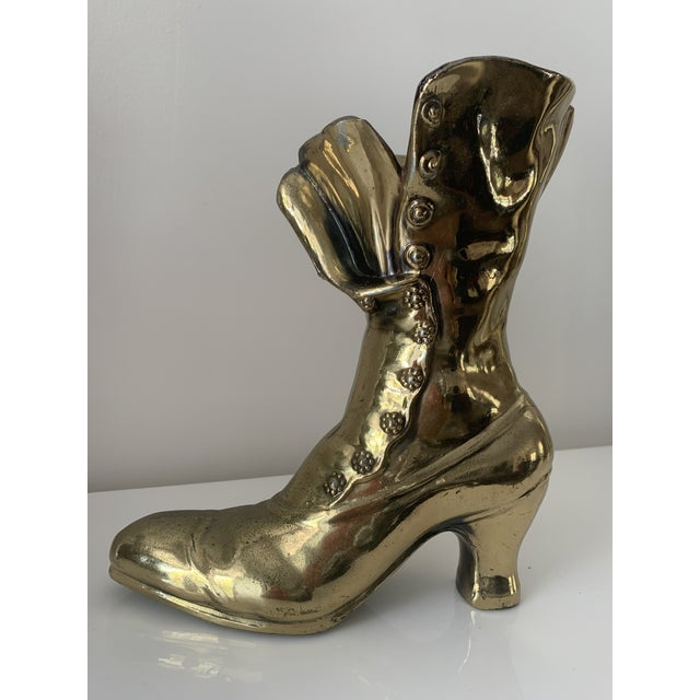 Victorian Steampunk Boot Vase For Sale - Image 10 of 10