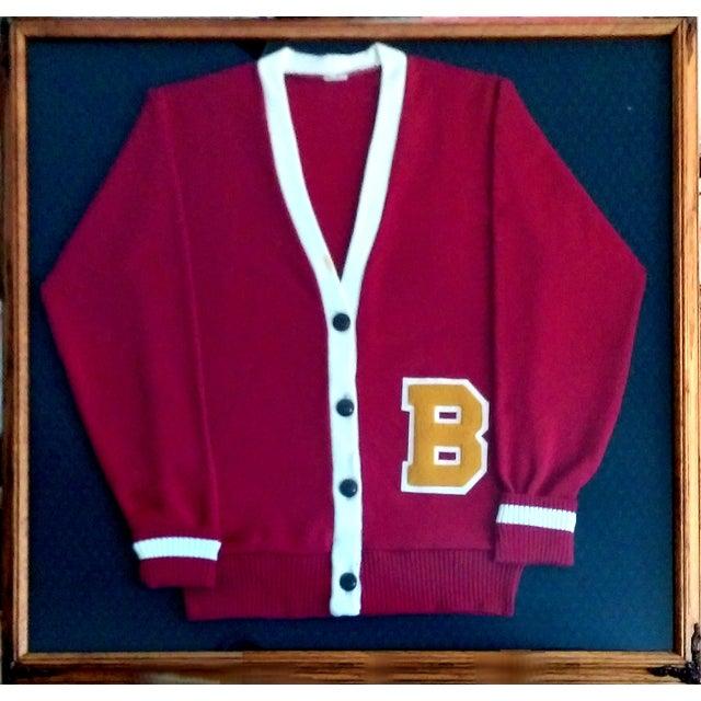 """Framed Varsity Letterman's """"B"""" Sweater - Image 1 of 9"""