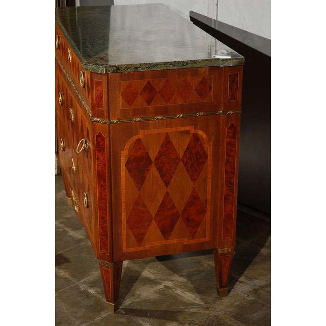 An excellent example of design and craftsmanship. This Swedish commode will make a impression in any refined setting....