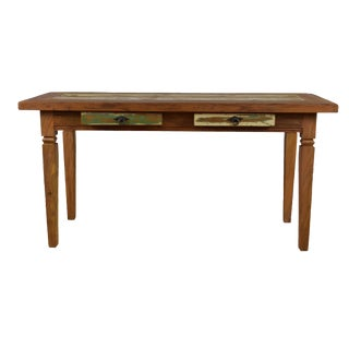 Traditional Alice Reclaimed Peroba Wood Handmade Console Table For Sale