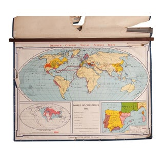 Vintage Denoyer-Geppert World Map For Sale