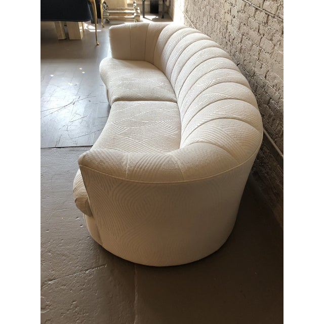1980s 1980s Curved Weiman Sofas Styled After Vladimir Kagan - a Pair For Sale - Image 5 of 7