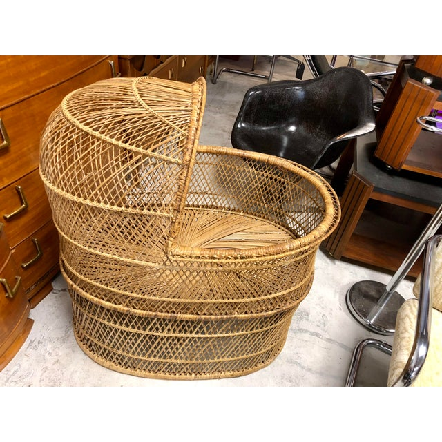 1970s Vintage Boho Chic Rattan Bassinet For Sale In Charleston - Image 6 of 6