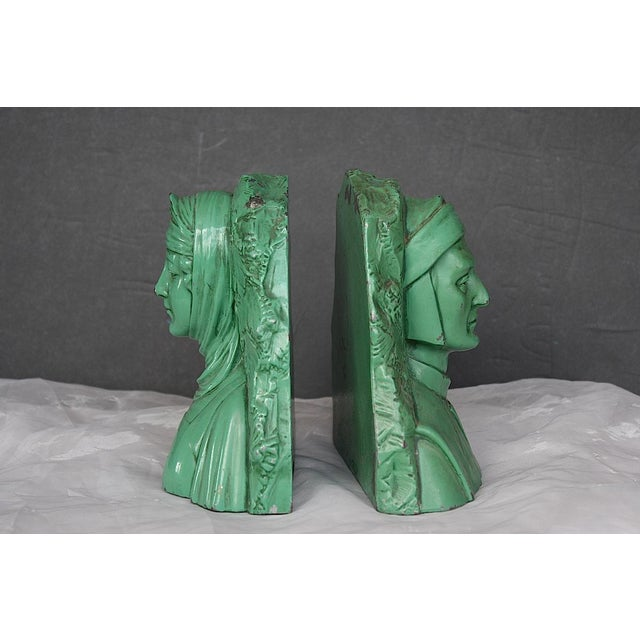 1920s Vintage Dante & Beatrice Jennings Brothers Bookends - a Pair For Sale - Image 5 of 8