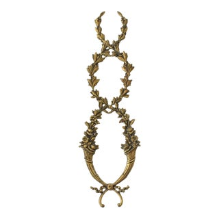 Antique French Ormolu Cornucopia Garland Ornament For Sale