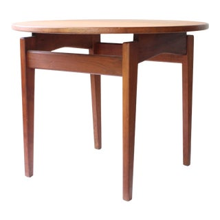 Mid Century Modern Jens Risom Walnut Floating Side Table For Sale