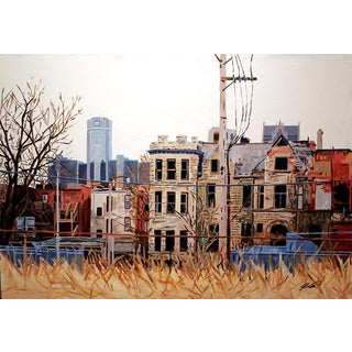 Contemporary Acrylic Painting - Detroit Series #4 For Sale