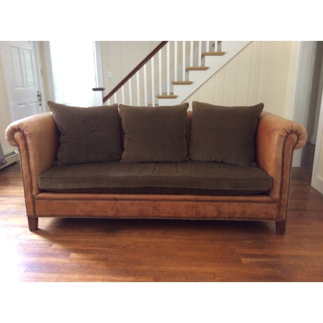 Ralph Lauren Brompton Leather Corduroy Sofa