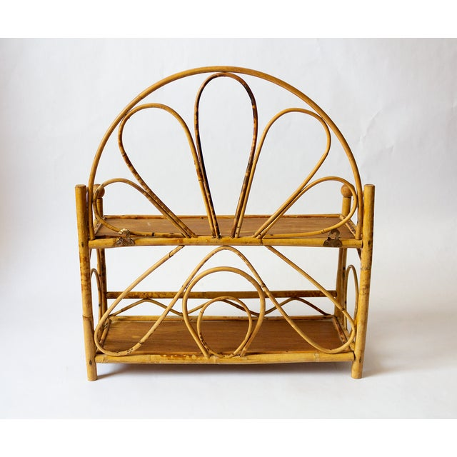 1960s 1960s Boho Chic Bamboo Wall Shelf For Sale - Image 5 of 8
