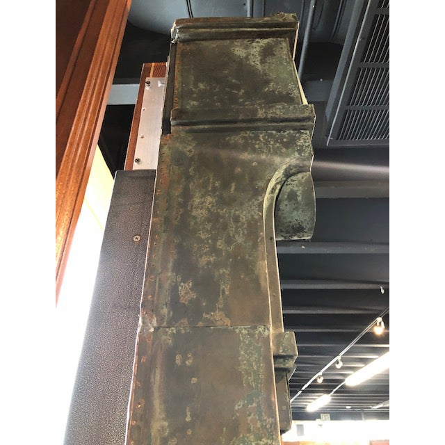 Antique Patina Wall Mirror For Sale - Image 4 of 9