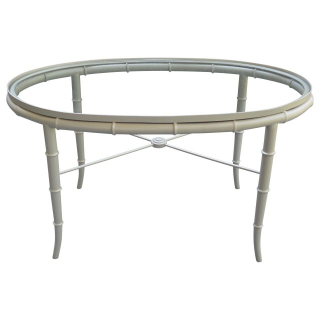 Brass Faux Bamboo Coffee Table: Faux Bamboo & Brass Cocktail Table