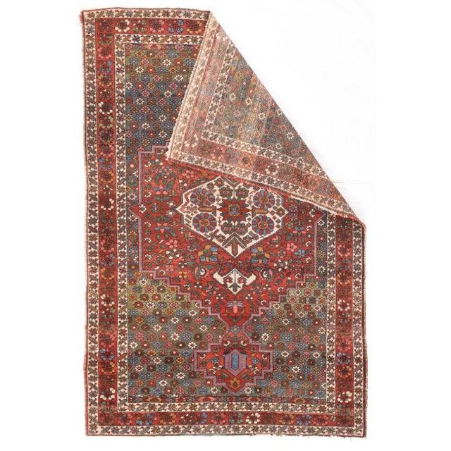 "Semi Antique Hand Made Bakhtiari Persian Rug 4' 4"" x 6' 8"" Wool Red"