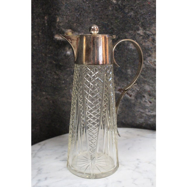 1940s Crystal & Silver Pitcher For Sale In New York - Image 6 of 7