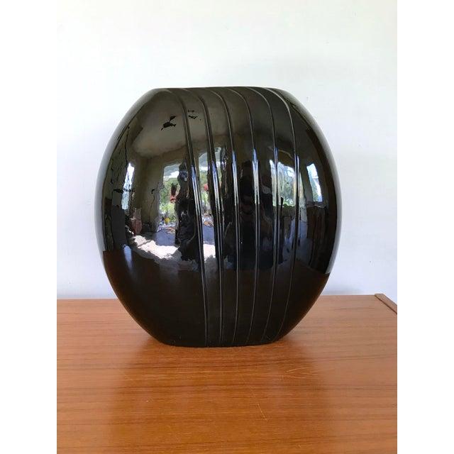 Black 1980's Vintage Black Vase For Sale - Image 8 of 8