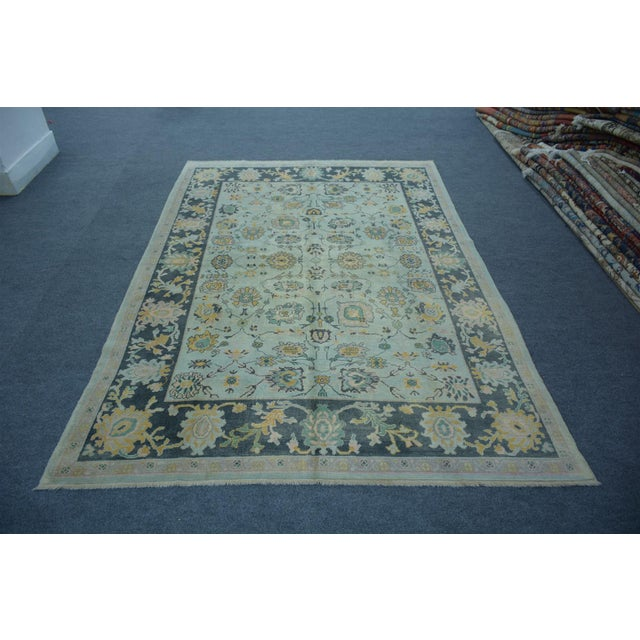 Turkish Anatolian Modern & Decorative Oushak Rug - 5′10″ × 8′ - Image 5 of 5